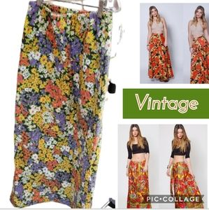 1970s floral Maxi skirt XS..S